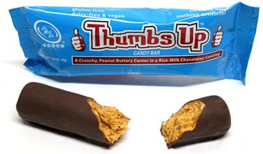 Thumbs Up! Crispy Peanut Butter Candy Bar by Go Max Go Foods – VeganEssentials Online Store