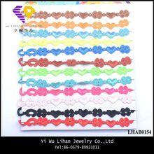 Multi Color Love Heart Lace Bracelet New Pattern Wrap Bracelet