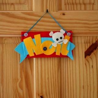Felt name tag I made for my nephew Neil
