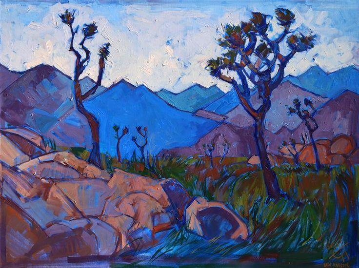 Joshua Tree rock climbing inspired artwork, by local painter Erin Hanson