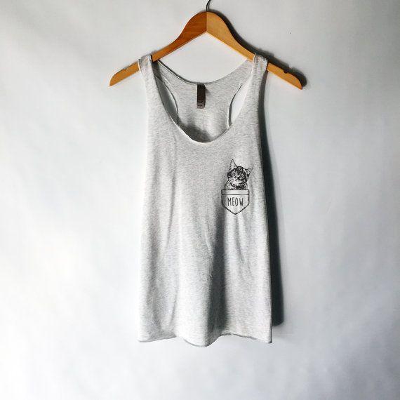 Grappige kat Shirt Tank Top - Crazy Cat Lady - kat Shirts - Kitten Shirt - Cat Lover - Meow Shirt - kat T Shirt - Tank Top - cadeau voor Cat Lover