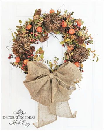 Wreaths for fall from diy home How to decorate a wreath