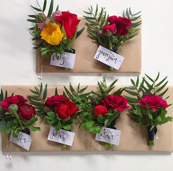 Not these flowers but are you wanting boutinerre for the groomsmen and dad's?