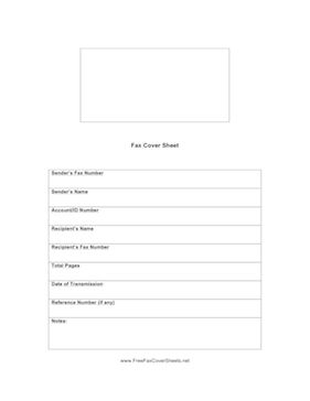 This fax cover sheet takes up the whole page, and includes space for sender's fax number, recipient's number, notes, and much more. Free to download and print