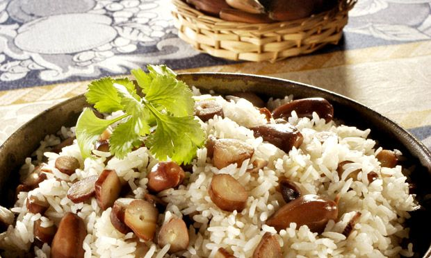 arroz com pinhao