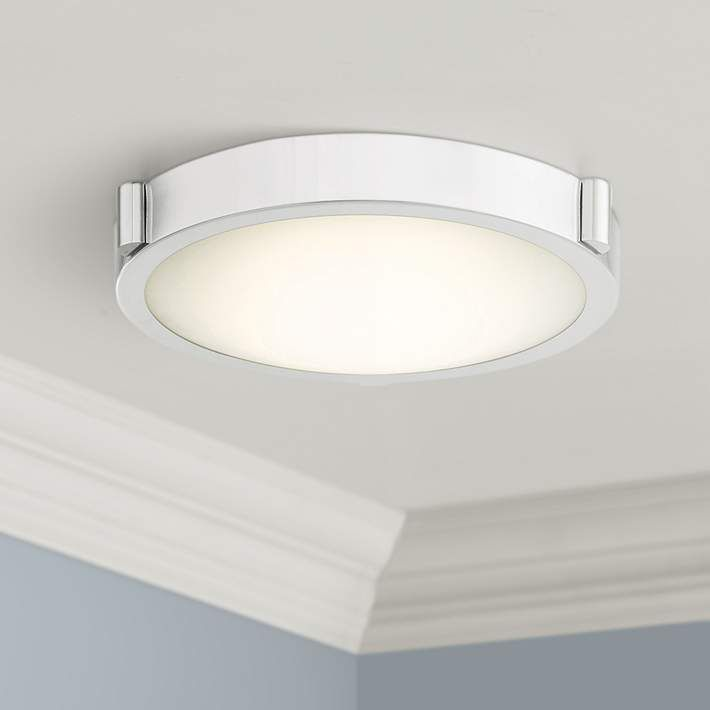 Dhalo 11 Wide Chrome Finish Modern Led Ceiling Light 42t49