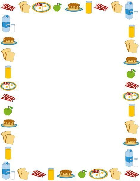 Food frame | Borders for paper, Clip art, Page borders