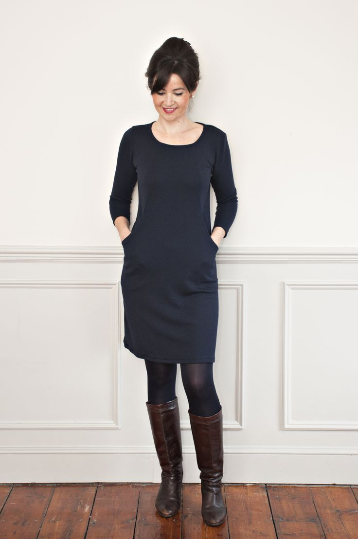 Sew Over It Heather Dress class - make this super versatile, comfy knit dress at our cosy London studio