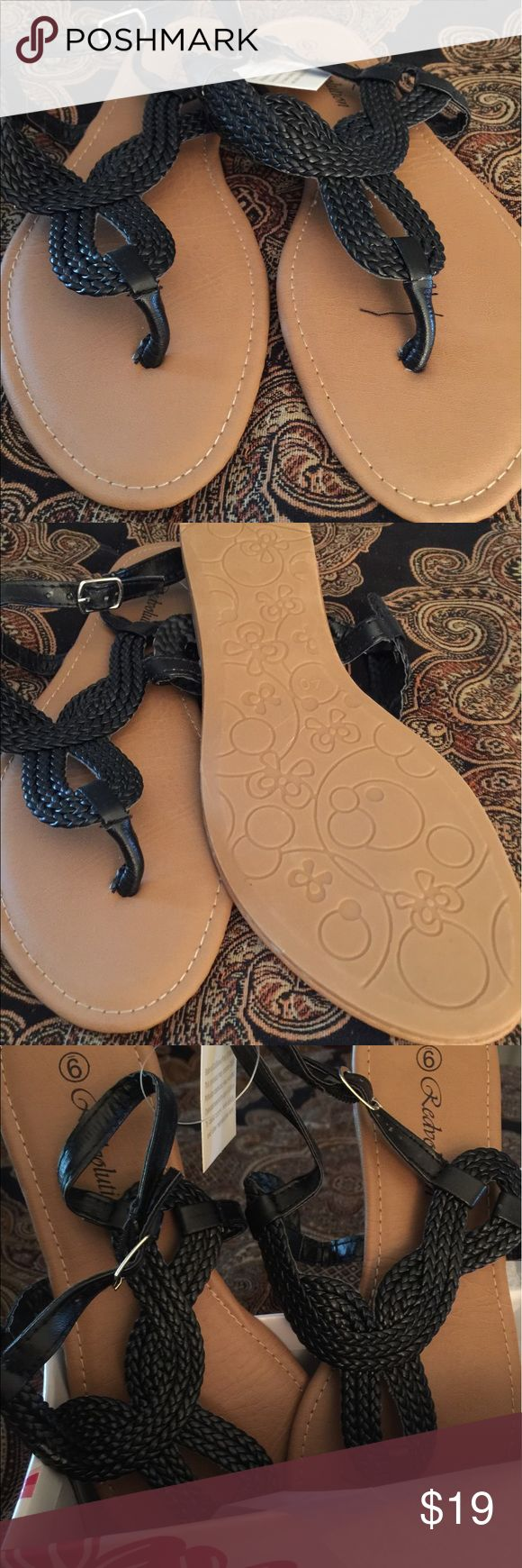 New in box ...Gladiator Flat Sandal ...size 10 New in box item...Gladiator Flat Sandal..T-Strap... durable TPR outsole and soft PU insole...braided upper T-Strap...size 10..run true to size... Shoes Sandals