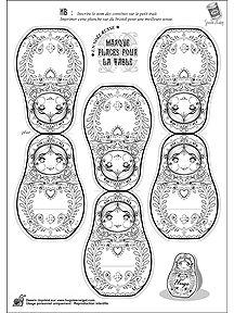Russian Christmas for children. Click on link for free template. http://www.hugolescargot.com/decoupages/decoupage-du-noel-russe.html