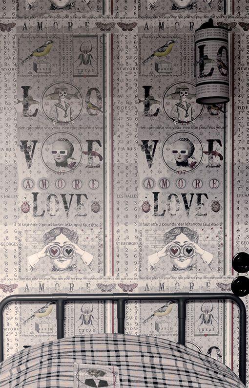 papier peint maison caumont d co pinterest ephemera kids rooms and room. Black Bedroom Furniture Sets. Home Design Ideas