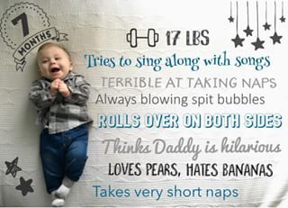 7 Months Old And So Cute Download The Little NuggetR App Tocapture Your Pregnancy Baby Milestones In A Photo Add Personalized Text Beautiful Artwork