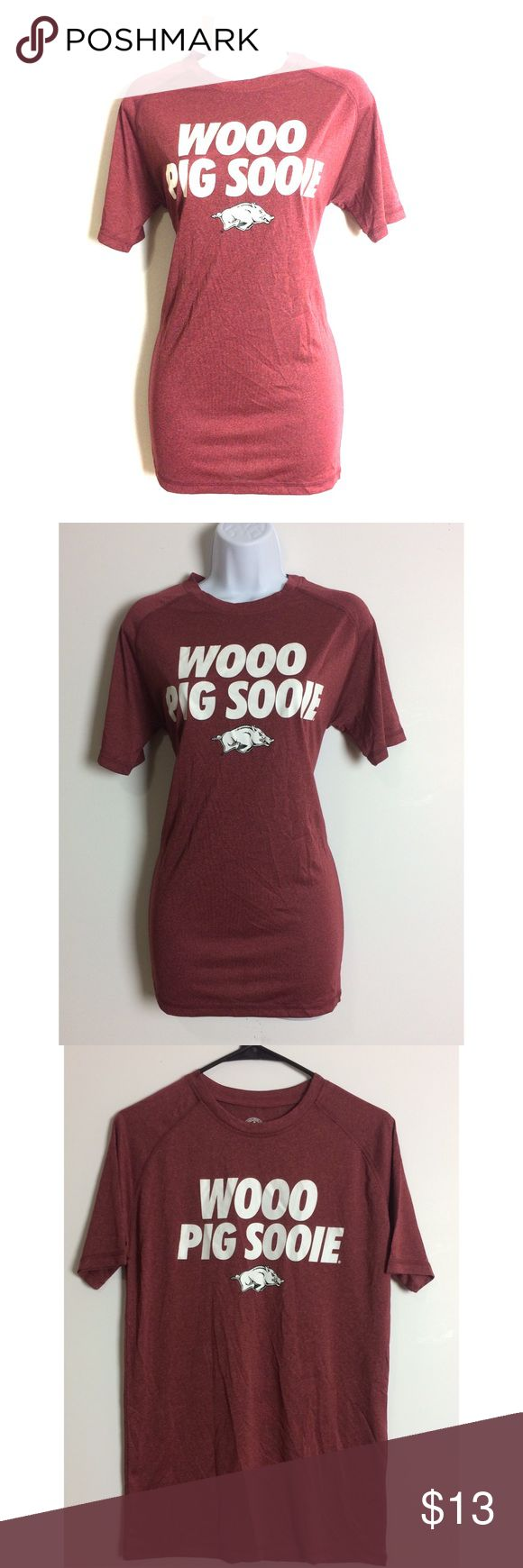 😎Arkansas Razorbacks Graphic Tee😎 Love this shirt super cute, stylish and trendy! NWOT! PRICE IS NOT FIRM OFFERS ACCEPTED UPON REQUEST...😊 Measurements: Armpit to Armpit: Length:  This listing is BRAND NEW WITHOUT TAGS! Material: Rivalry Threads 91 Tops Tees - Short Sleeve