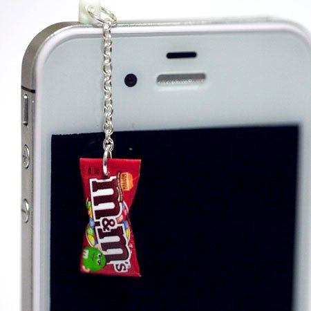 Kawaii M PEANUT BUTTER Candy Iphone Earphone Plug/Dust Plug - Cellphone Headphone Handmade Decorations