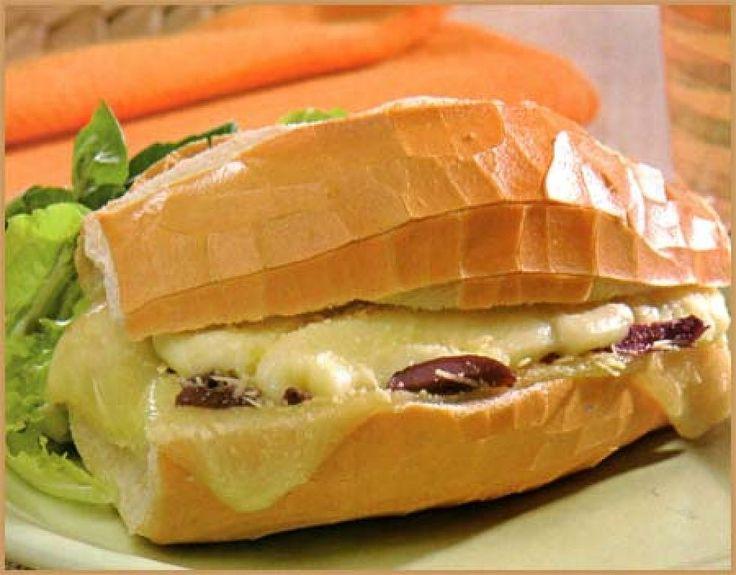 #Pan #crujiente #queso #derretido