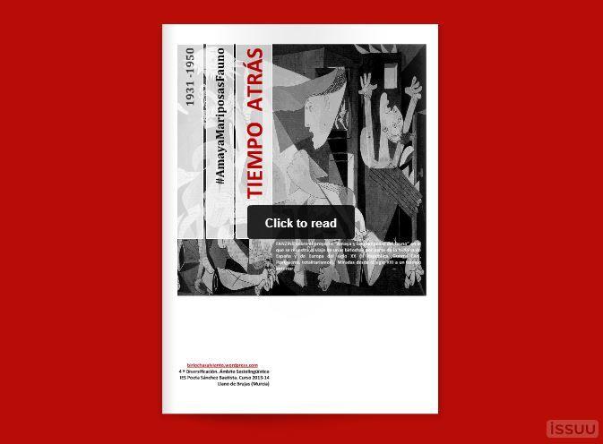 """¡Estamos que lo trinamos! ¡Estamos que lo tuiteamos! Las rotativas ya están en silencio. Nuestro fanzine está en la calle. Publicación que es el resultado final de todo el proceso de trabajo con el proyecto de """"Amaya y las mariposas del fauno"""". Un recorrido por parte de la historia del siglo XX."""