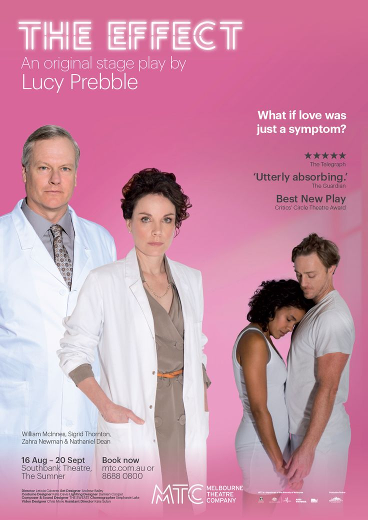 The Effect an original stage play by Lucy Prebble Poster Art http://www.mtc.com.au/plays-and-tickets/mainstage-2014/the-effect/
