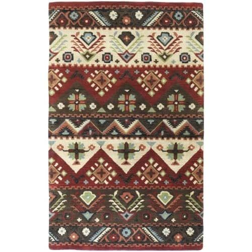 Surya DST381-3353 Dream 3' x 5' Rectangle Wool Hand Tufted Southwestern Area Rug - Red