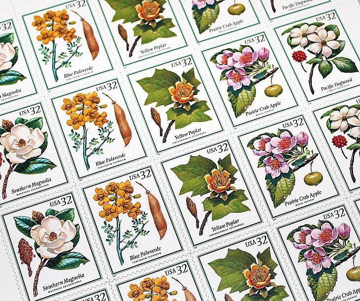 Unused Vintage US Postage Stamps For Mailing Wedding Invitations