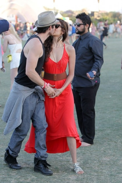 Nina Debrov and her real-life bf (vampire diaries bad boy Iam Somerholder aka Damon). aww, love... and a nicely dressed couple!