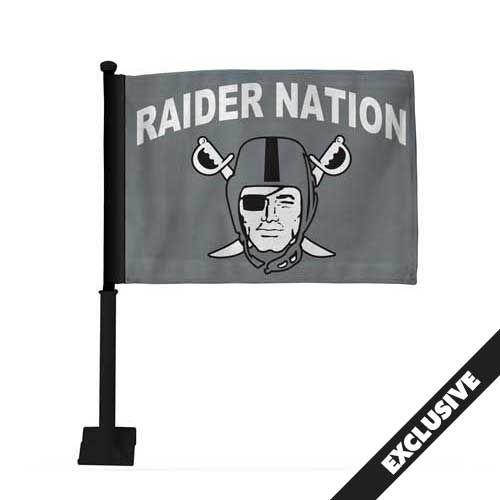 Raiders Raider Nation Pirate Logo Car Flag