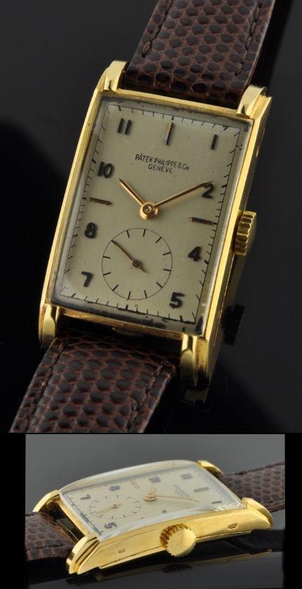 Patek Philippe Rectangular 1940's @ WatchesToBuy.com
