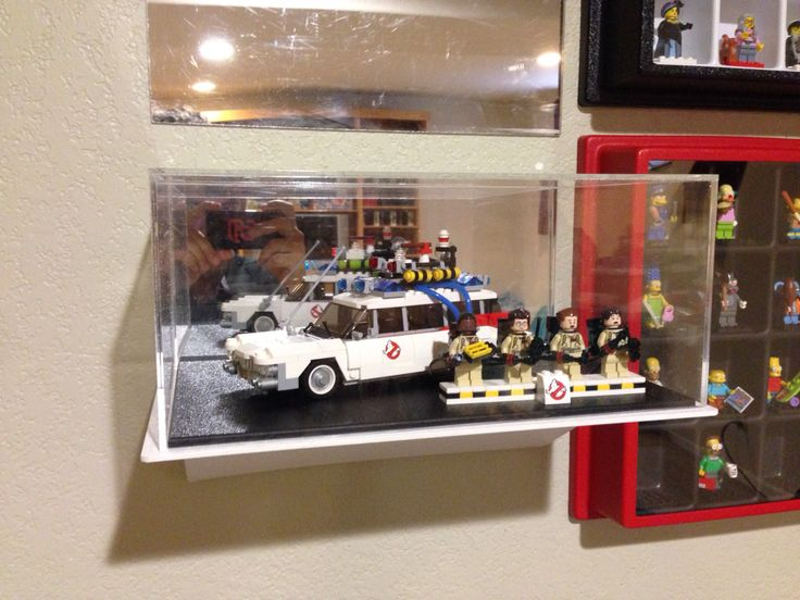 Display-go wall mounted display for complete builds! Ghostbusters Ecto-1 lego set