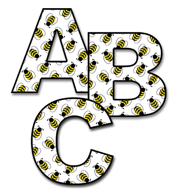 letter a name for girl bee letter decal alphabet wall nursery personalized 12003