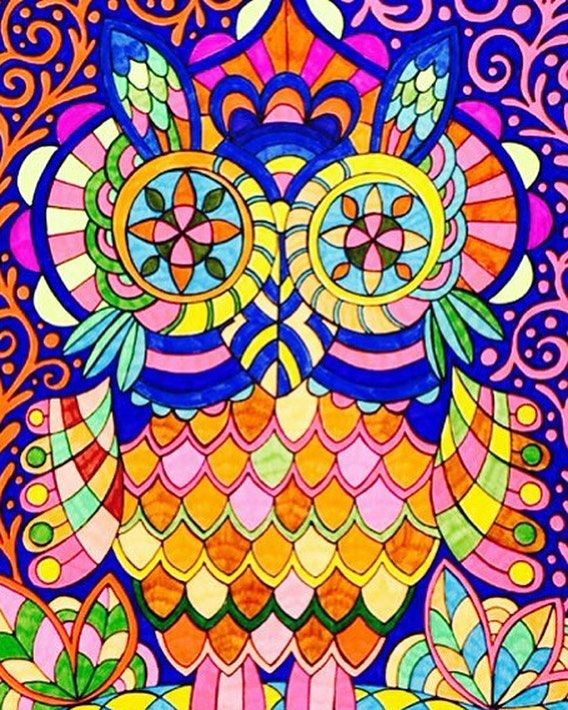 "Mental Images Coloring Books (@paivivesala_art) on Instagram: ""Want this owl coloring page? Subscribe free coloring pages on paivivesala.com (link in bio) and you…"""