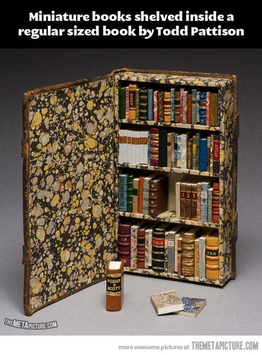 Miniature books…oh my word, I've died and gone to heaven :D