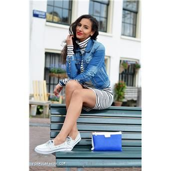 Sperry - witte bootschoenen | Outfit by: formulafarah.com