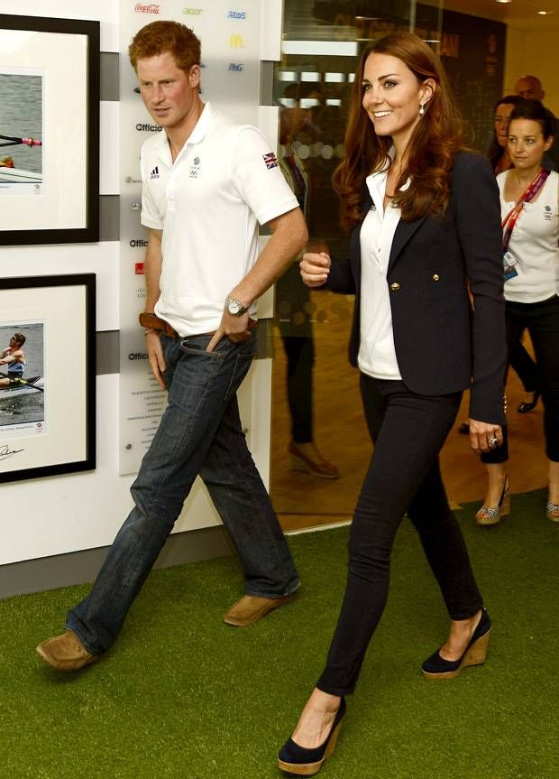 Duchess Kate: Duchess Kate and Prince Harry Visit Team GB House