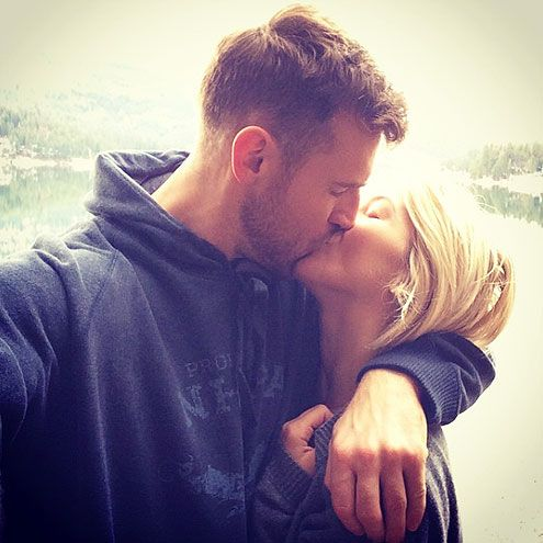 8 Julianne Hough and Brooks Laich Instagram Posts That Will Make You Swoon | WHEN THEY NAILED THE PDA SELFIE  | Normally, Instagram photos of happy couples smooching make us roll our eyes and quickly scroll past, but these two are so happy to be reunited that even a little PDA can't help but melt our hearts. Congratulations, Julianne and Brooks!