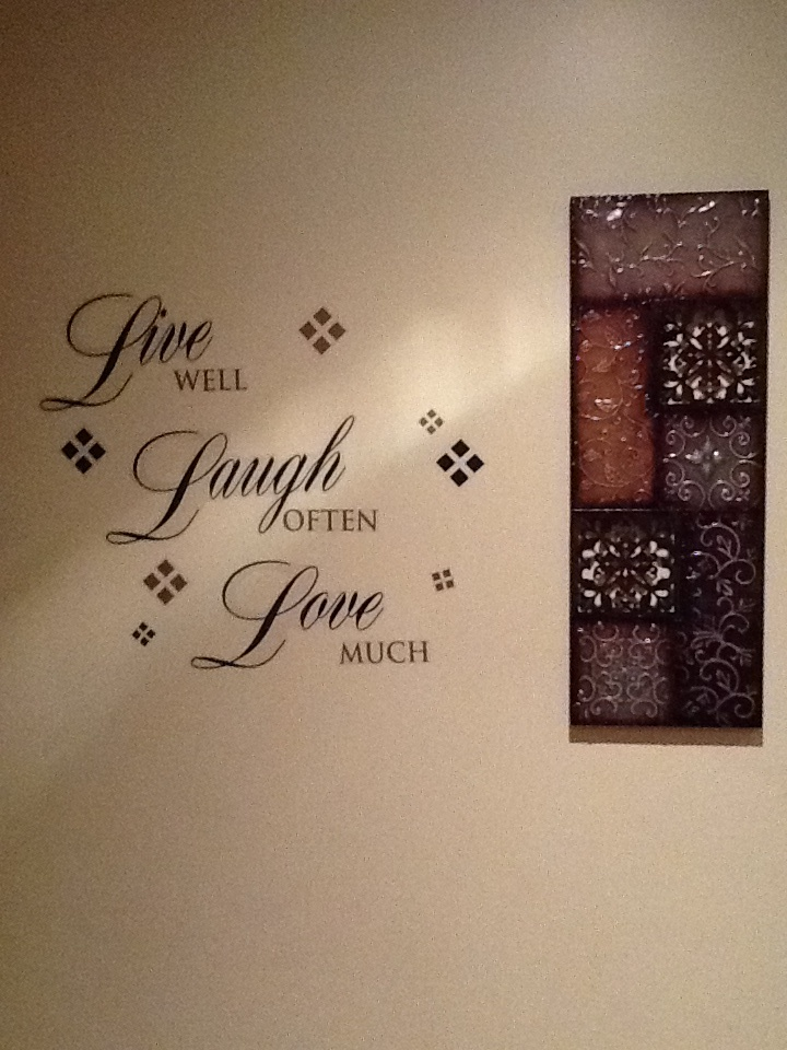 My Kitchen Wall Decor. Bought At Pier One And Kirkland Home.