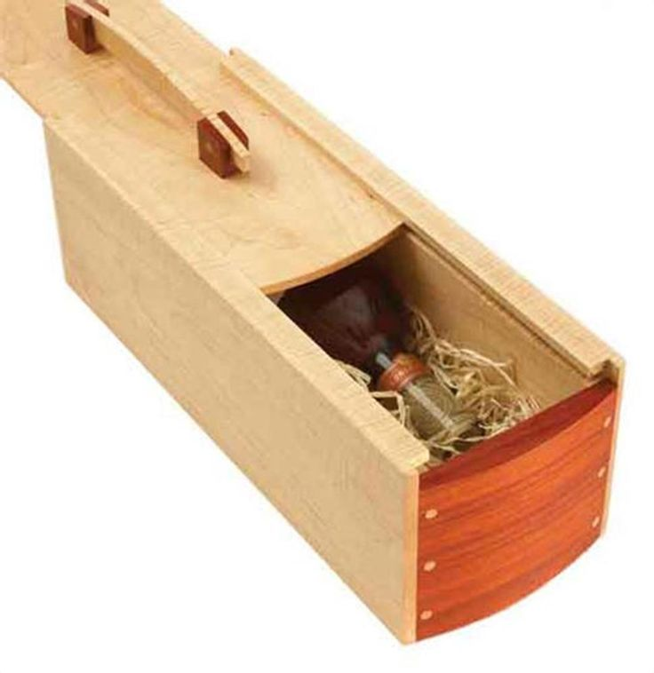 Gift perfect wine box woodworking plan from wood magazine for Timber wine box