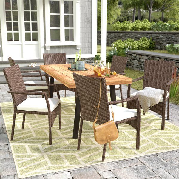 Kissena 7 Piece Dining Set With Cushions