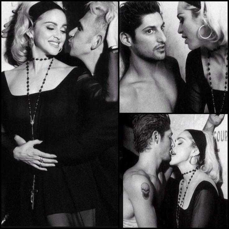 Madonna and Tony Ward -backstage at JPG 1991