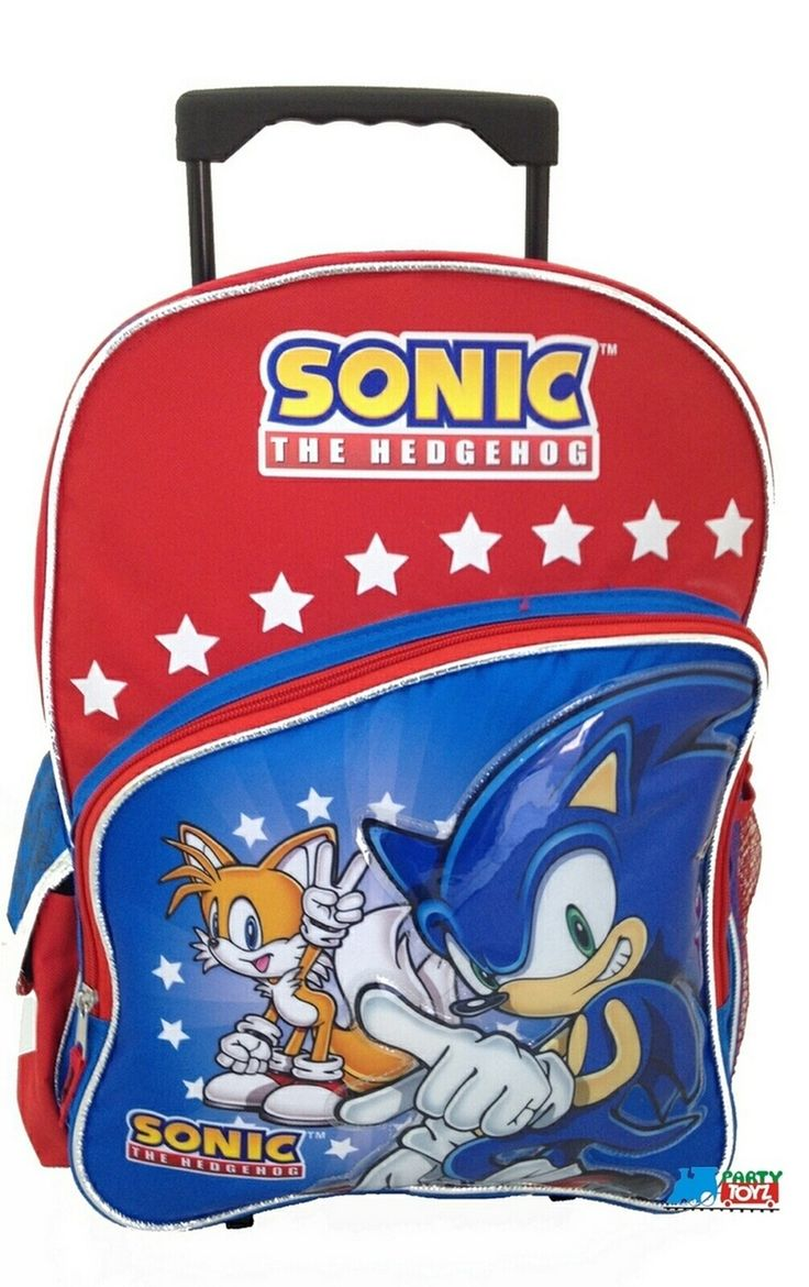 Partytoyz Inc. - Sonic The Hedgehog Large 16 Inch Rolling Backpack Wheels Bag School W Tails, $24.99 (http://www.partytoyz.com/sonic-the-hedgehog-large-16-inch-rolling-backpack-wheels-bag-school-w-tails/)