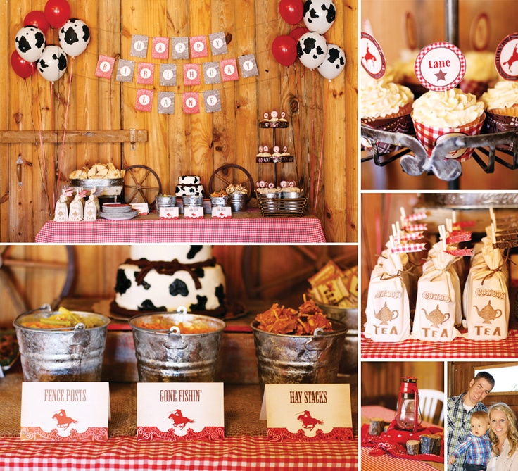 Rustic & Vintage Cowboy First Birthday by Southern Mae Photography!