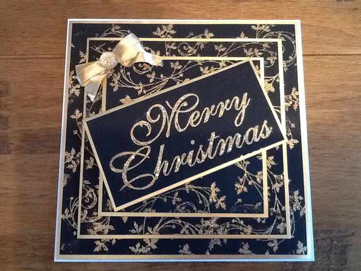 Black and gold Christmas card using Stamps by Chloe