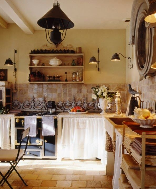 cocina estilo provenzal francés