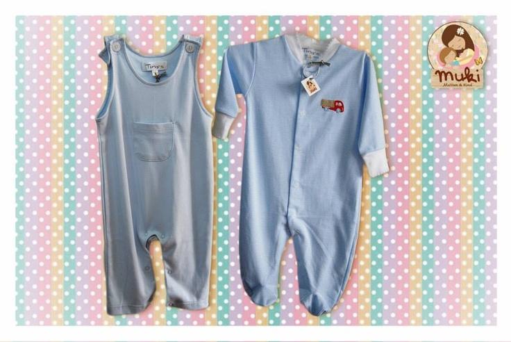 Jardinera y pijama de algodón peruano Tallas: 0 a 12 meses Jardinera: $14.990 Pijama: $14.990