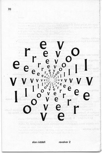 Alan Riddell- concrete poet