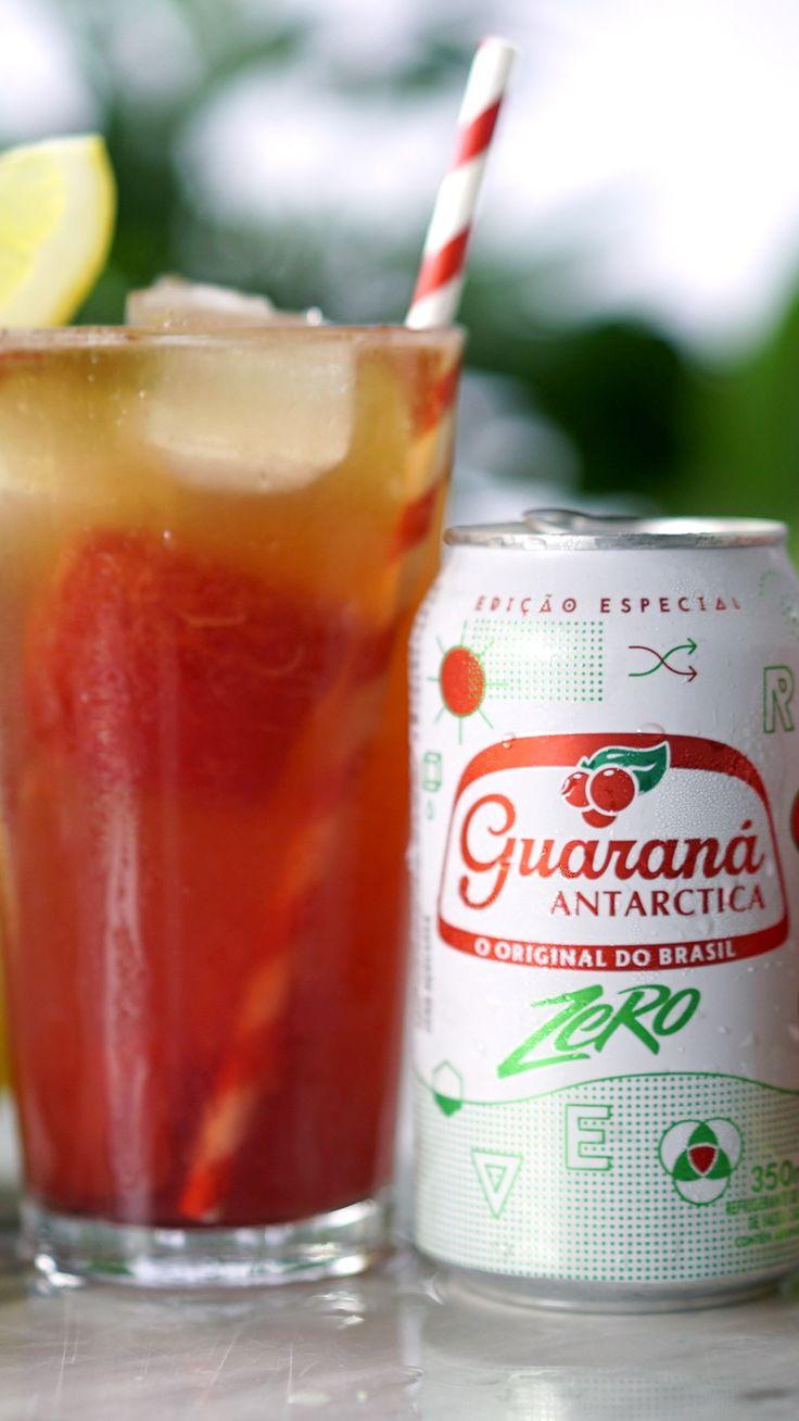Essa limonada rosa com Guaraná Antarctica Zero é uma opção deliciosa e super diferente para alegrar o seu dia.