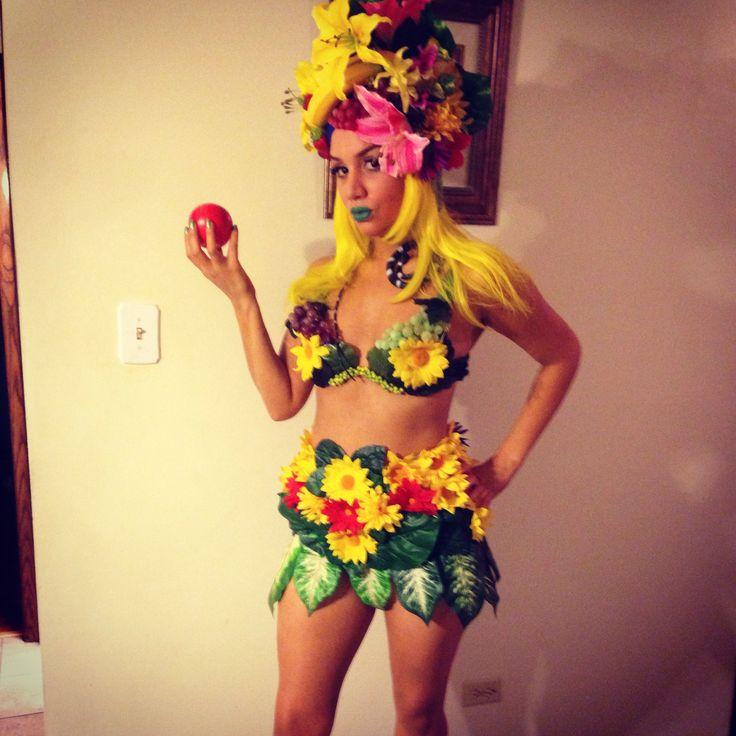 Full Costume Eve Fruit Girl Hula Girl Tropical My