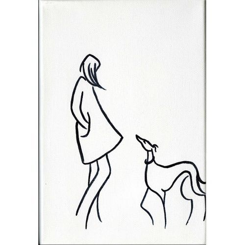Girls Best Friend I by Dianne Heap @ Mini Gallery - Acrylic Painting - M6581: