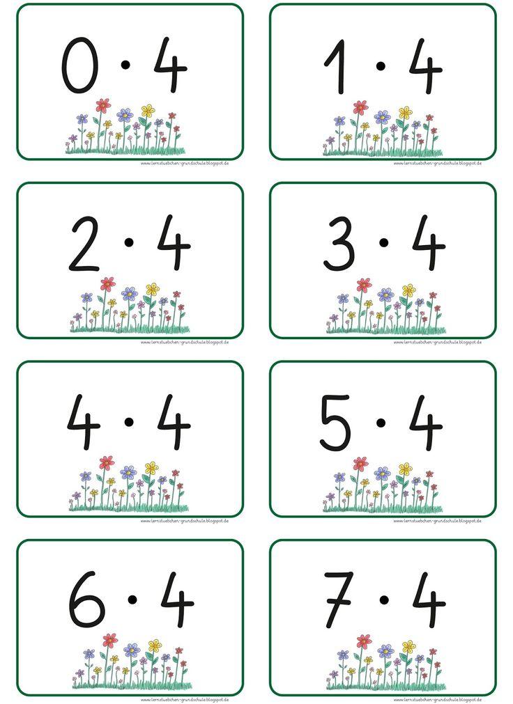 hier die Aufgabenkarten   der ersten sechs Einmaleinsreihen,   mit ihren Ergebniszahlen   (zum doppelseitigen Ausdruck)     PS. ich sehe ge...