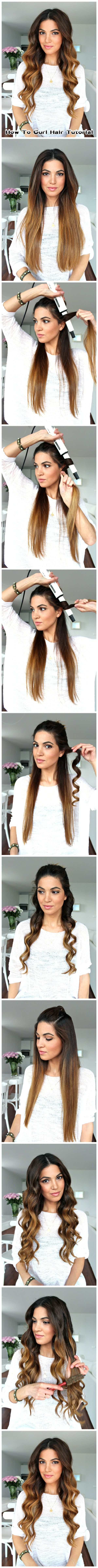 How To #Curl #Hair #Tutorial