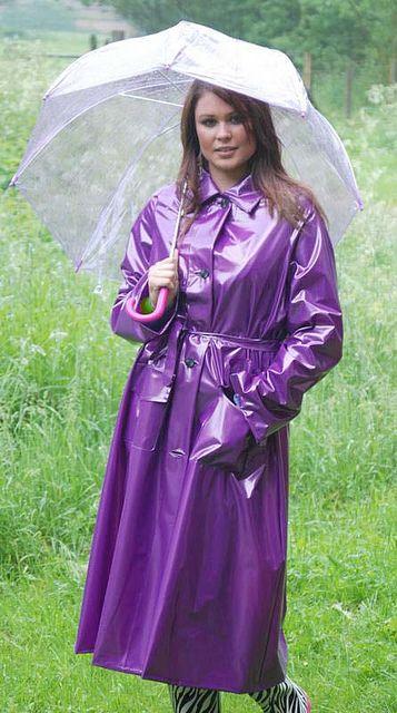 Purple PVC Raincoat