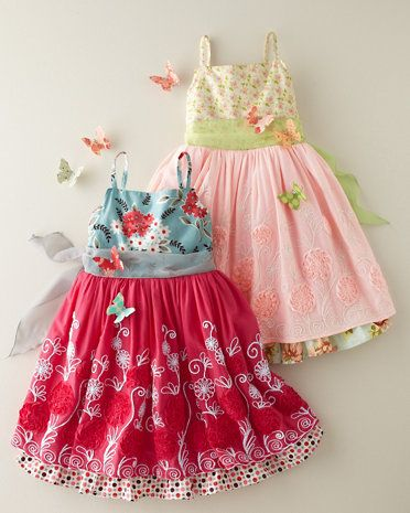 Red Blossom Butterfly Fantasia Dress by Moxie & Mabel